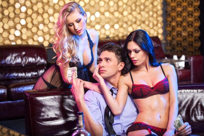 Girls strip for money